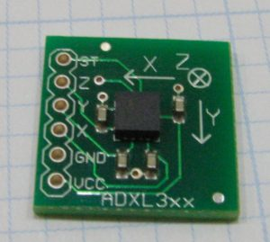 ADXL330 3-axis accelerometer by Matt Metchley